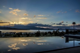 location villa kastro sunset view