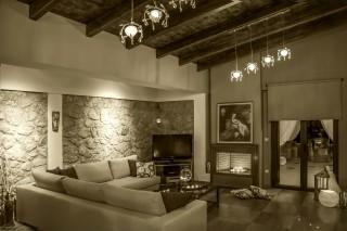villa kastro lefkada living room